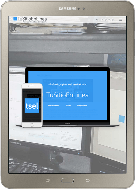 Tableta Samsung - Página web TuSitioEnLinea